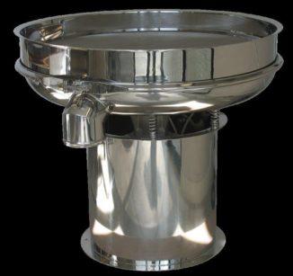 Il vibrovaglio CRS, top della gamma Emilos, è disponibile nei diametri 600, 800, 900, 1200, 1500, 1800 mm. Il contenitore ha forma bombata