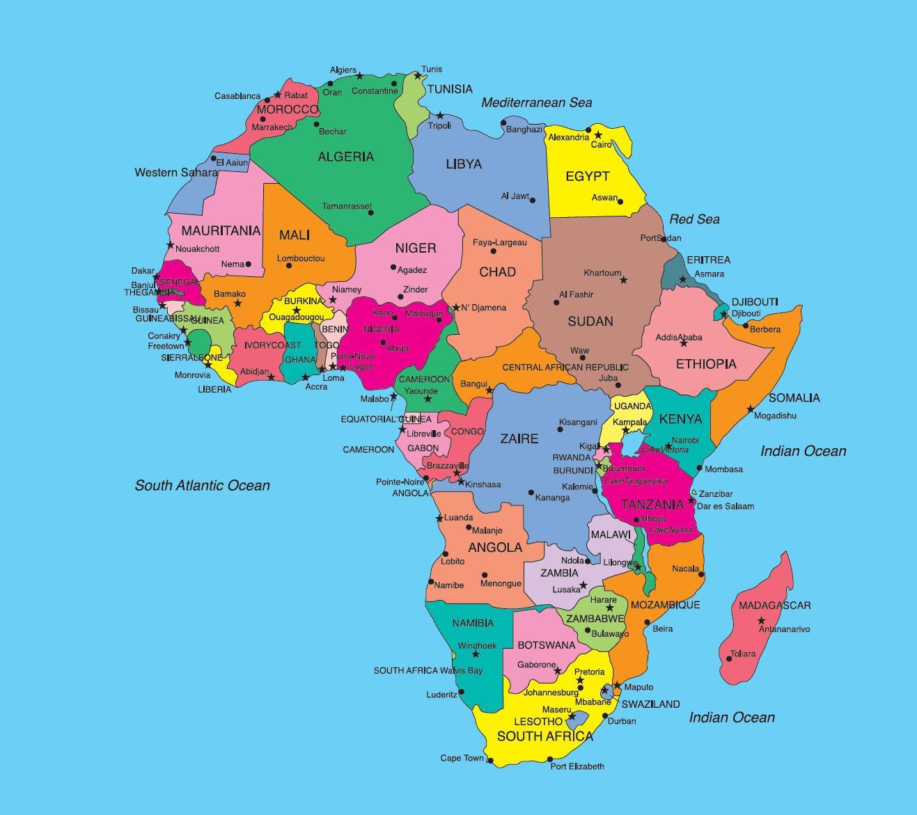 Africa Politica Cartina In Italiano.Parti Populiste Cartina Europa Politica Con Stati E Capitali