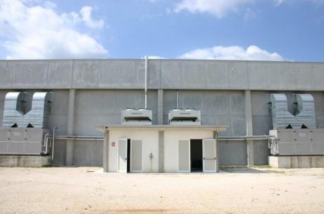 Vista esterna degli impianti di climatizzazione