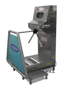 Versione con design americano e funzioni di obbligatorierà nelle operazioni di pulizia e igiene (con badge di controllo accessi)