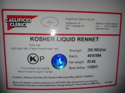 etichetta prodotto kosher
