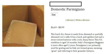 Usurpazipone Domestic Parmigiano
