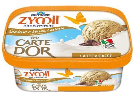 Dalla collaborazione tra Zymil, brand di prodotti delattosati di Parmalat,  e Carte d\u0027Or, marchio di Unilever del settore del gelato, è nata la linea  Zymil